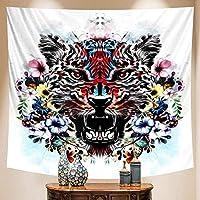 タペストリーシーンホームアートデコレーション動物ボヘミアンデコレーションシートソファブランケット壁デコレーションヨガマット150x130cm
