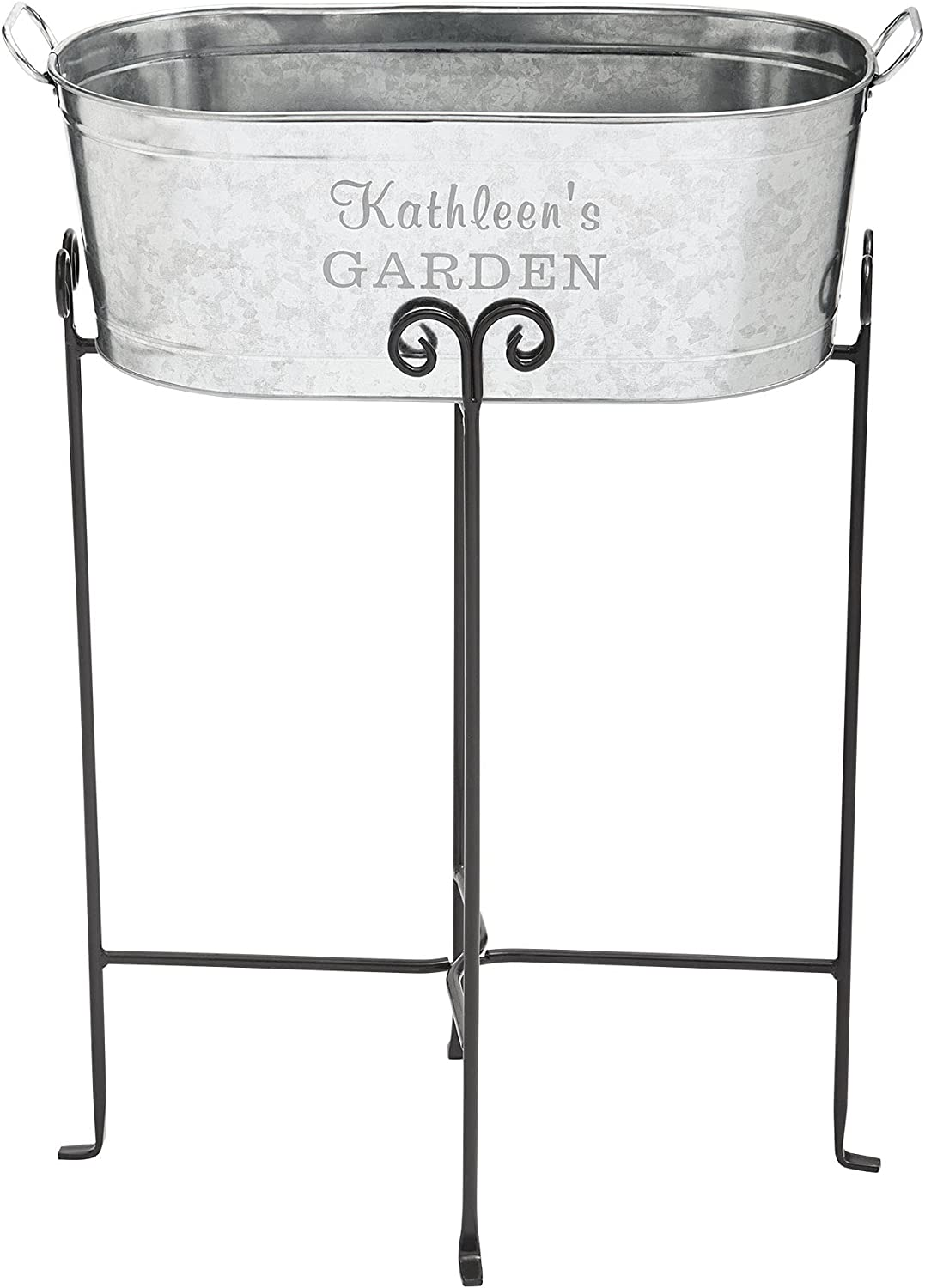 Let's Make Memories Personalized Galvanized Easy-to-use Al sold out. Tub Stand w Planter