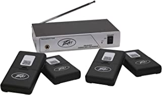 Peavey 03010680 Assisted Listening System 72.9 MHz Transmitter & 4 Receivers with Earbuds (ALS72.9)