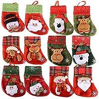 ✿ Il pacchetto include: 12pz mini calze di natale portaposate natalezie ✿ Materiale: non-tessuto. Dimensione: circa 13.5*9*15.5 cm. ✿ Tema: Babbo Natale, pupazzo di neve, orso, alce. ✿ Ideale per riempire questi stivali di Natale con cioccolato, bast...