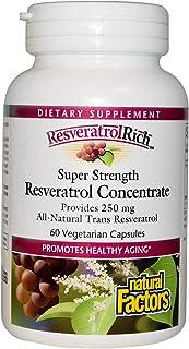 Natural Factors Resveratrolrich Super Strength Resveratrol Concentrate, 60 Capsules
