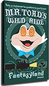 Home Decor Print Oil Painting on Canvas Wall Art Mr Toad's Wild Ride 1 (No Framed,8x12inch)