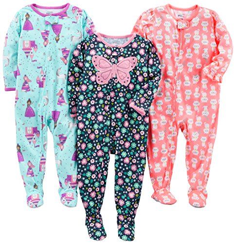 Simple Joys by Carter's Baby und Kleinkind Mädchen 3er-Pack Lose Fit Polyester Jersey, Mehrfarbig (Fairy/Butterfly/Kitty), 12 Monate