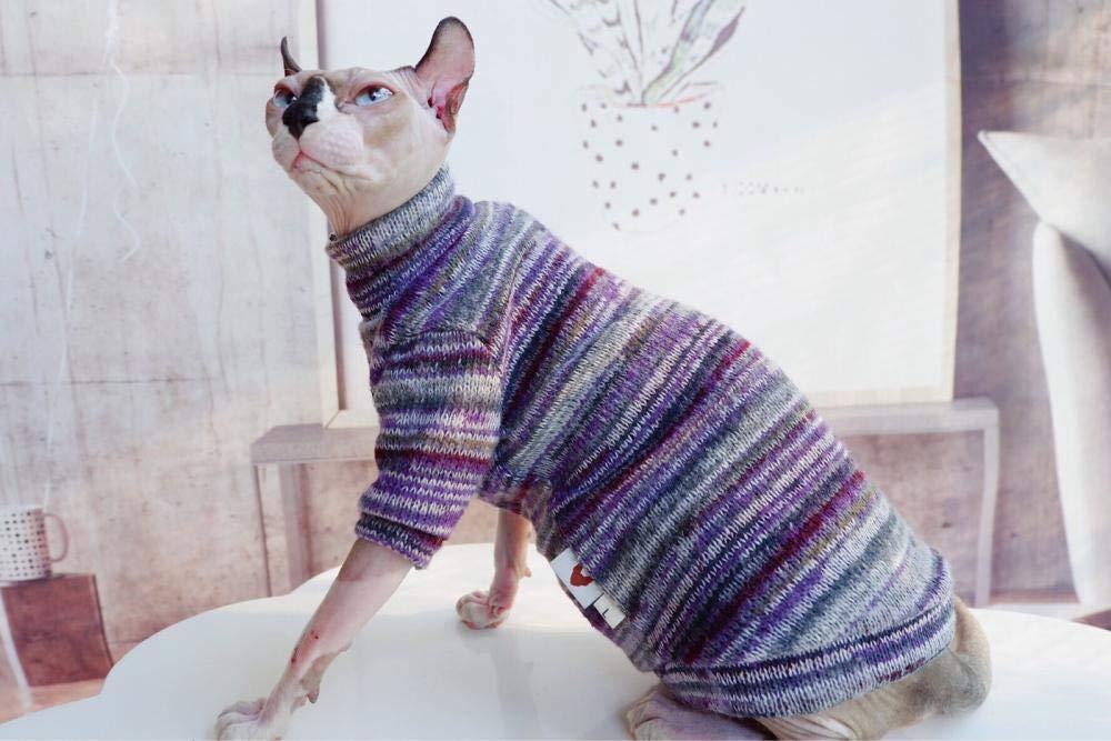 HCYD Ropa para Gatos a Rayas Ropa para Gatos Sphinx Artículos para Mascotas Ropa para Gatos, S: Amazon.es: Productos para mascotas