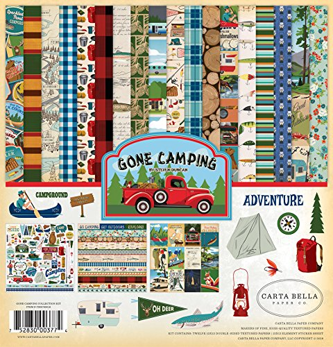 Carta Bella Paper Company Gone Camping Collection Kit Paper, 12 x 12, Multicolor