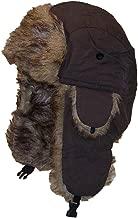 Best Winter Hats Solid Color Nylon Russian/Trapper W/Soft Faux Fur Cap(One Size)