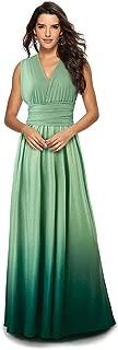 Women Transformer Infinity Evening Dress Multi-Way Wrap Convertible Halter Gradient Color Sleeveless Long Dress