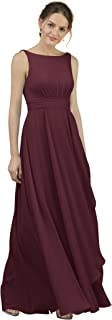 A-Line Chiffon Bridesmaid Dress Long Party Evening Dresses Prom Gown Maxi