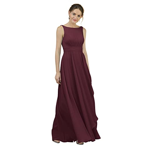 a2611d6e936b7 Alicepub A-Line Chiffon Bridesmaid Dress Long Party Evening Dresses Prom  Gown Maxi at Amazon Women's Clothing store: