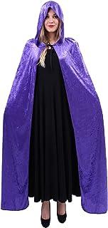 puseky Unisex Cappuccio Medievale con Cappuccio Mantello di Halloween Costume Cosplay di Colore Solido Mantello