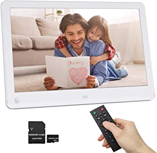 12 Inch Digital Picture Frame 1920×1080 Motion Sensor IPS Screen 16:9 Include 32GB..