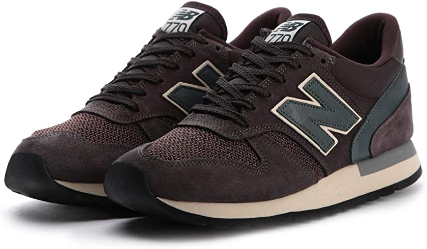 NEW BALANCE M770AEF Sneakers Uomo Made in England Limited Edition NAVY-BURGUNDY