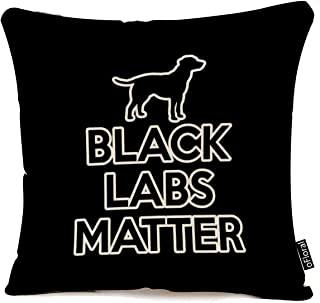 oFloral Throw Pillow Case Black Labs Matter Decorative Pillow Cover Square Accent Cushion Cover for Sofa and Couch 18