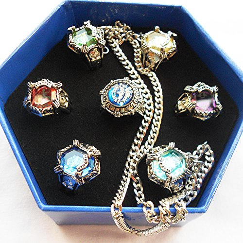 Onecos Katekyo Hitman Reborn Ring Cosplay (A Set of Seven) B