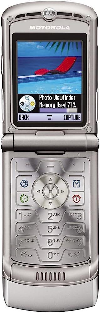 Motorola razr v3 telefono cellulare clamshell attivo argento