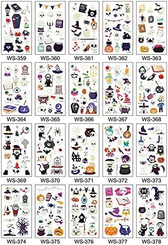 Shuihua 20 Sheets Temporary Tattoos Stickers Luminous Sti Tattoo Super special price Sales