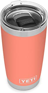YETI Rambler 20 oz Tumbler, Stainless Steel, Vacuum Insulated with MagSlider Lid (Coral)