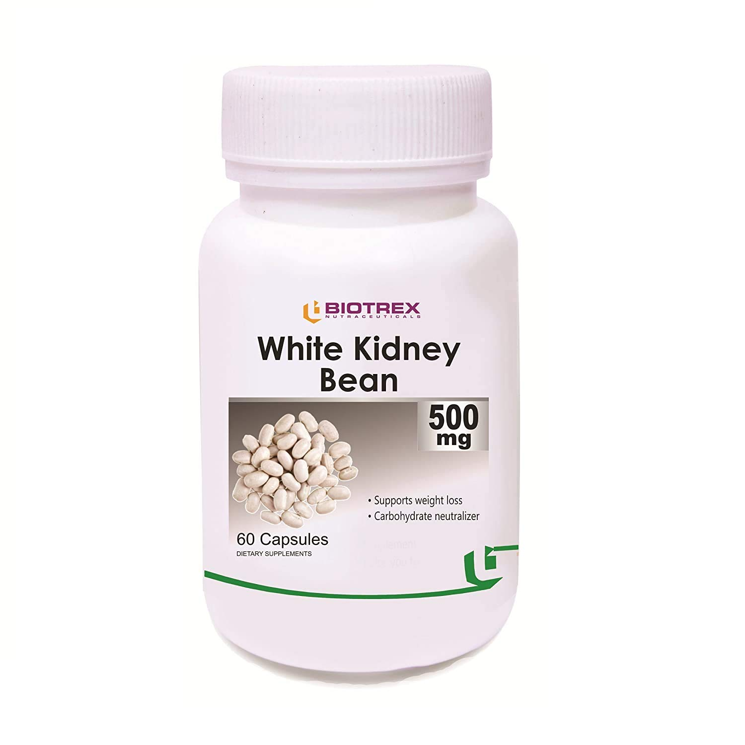 Krishna Biotrex Nutraceuticals White Kidney In a popularity Bean Genuine Free Shipping 500Mg - Extract