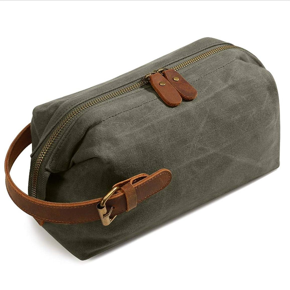 無実教える岩化粧オーガナイザーバッグ ポータブル防水化粧品袋トップジッパーメークアップケーストラベルグリーン 化粧品ケース (色 : 緑)