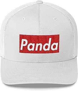 Panda Hat (Supreme Box Logo Style) Trucker Cap