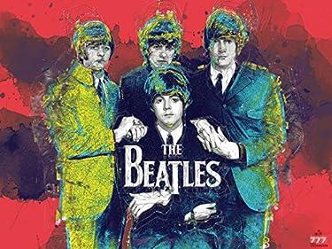777 Tri-Seven Entertainment Beatles Poster Music Wall Art Print (24x18)