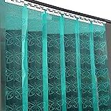 LSXIAO Puerta Cortina Algodón Cortina De Tira De PVC Industrial Flexible Persianas Respirable Agujero A Prueba De Polvo Riel De Montaje Galvanizado Adecuado para Granero, Agricultura, Congelador