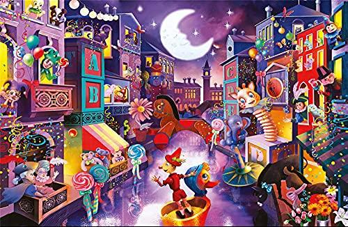Puzzle 1000 Piezas Ciudad de Marionetas DIY Rompecabezas para Adultos Adolescentes Juego Familiar Puzzle Intelectual Educativo Divertido Juguete De Regalo Ideal