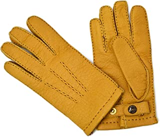 [DENTS【デンツ】]手袋/グローブ 15-1564 CorkPeccary&Cashmere lining(イエロー ペッカリー&カシミアライニング)