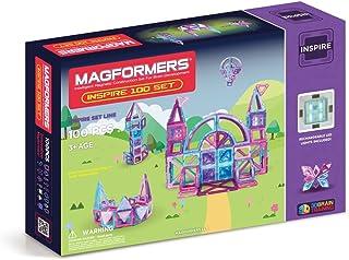Magformers Inspire Set (100-pieces) Magnetic Building Blocks, Educational Magnetic Tiles Kit , Magnetic Construction STEM ...