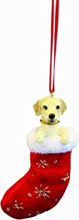 Yellow Labrador Christmas Stocking Ornament with