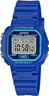 Women's Classic Quartz Watch with Resin Strap, Blue, 9.5 (Model: LA-20WH-2ACF)