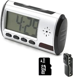 Mini Camera, YYCAMUS Alarm Clock Nanny Cam [with One More Mini DV and 8GB Micro SD Card]