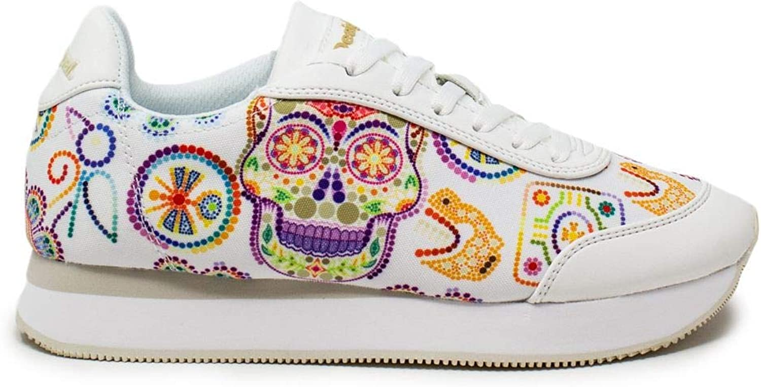 Desigual Women's 19SSKF08WHITE White Polyester Sneakers
