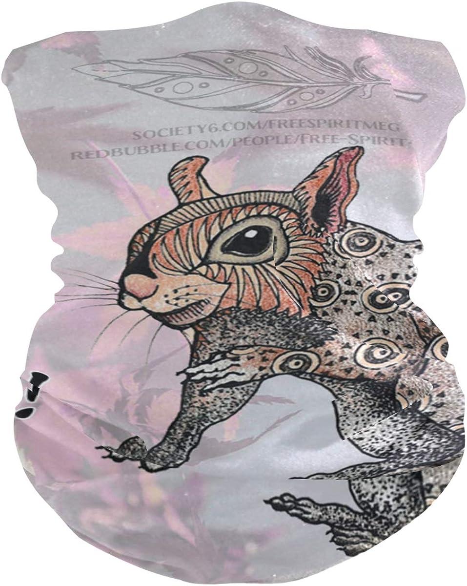 SquirrelPrint Headband Face UV Sun Protection Mask Neck Gaiter Magic Scarf Bandana Headwear Balaclava for Women Men