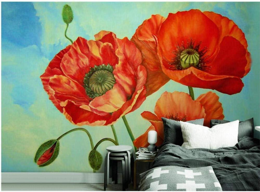 Zjxxm Custom Hd Direct sale of manufacturer Photo Ranking TOP3 Wallpaper 3D Nature Wall Red Murals Plants