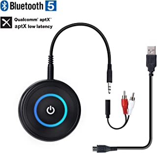 BANIGIPA Bluetooth Transmitter Receiver with 3.5mm AUX RCA, Wireless 2 in 1 Audio Music Adapter for TV, PC, Cinema System, HiFi Stereo amp, Dual Link AptX Low Latency