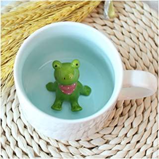 mug with frog in the bottom