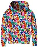 Teen Boys Girls Pug Hoodies 3D Realistic Creative Red Blue Green Pink Yellow Dog for Age 8T 8T 10T 11T 12T Youth Child Thin Round Neck Stylish Hoody Pullover Sweatshirt Jacket Pockets Party