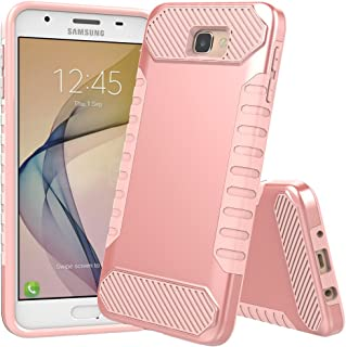 Galaxy On5 2016 Case,Galaxy J5 Prime Case, JDBRUIAN [Shock Absorption] Hybrid Dual Layer Armor Protective Case Cover for Samsung Galaxy On5 2016/J5 Prime/G570 - Rose Gold