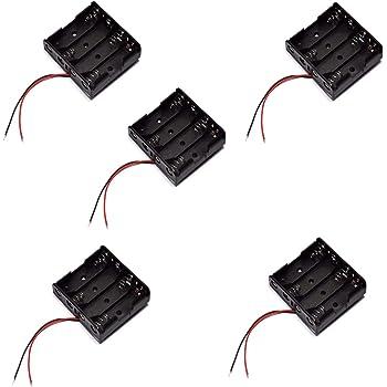 5X Portapilas 4 Pilas 6v Caja de batería para 4 Pilas AA 6V: Amazon.es: Electrónica