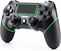 Best Diswoe Wireless Controller Bluetooth Gamepad for Playstation 4/Pro/Slim/PC Laptop(7/8/8.1/10) with DUALSHOCK Motion Motors, Audio Function, Touch Panel Joypad and Anti-Slip Design (Green) Reviews