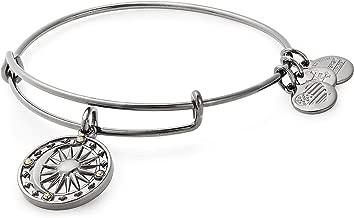 Alex and Ani Women's Cosmic Balance II Bangle Midnight Silver Bracelet, Midnight Silver, Expandable