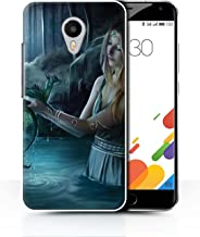 Official Elena Dudina Phone Case / Cover for Meizu M1 Metal (Blue Charm) / Water/Baby Design / Dragon Reptile Collection