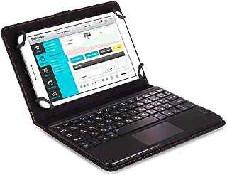Ewin® 8-8.9インチタブレット汎用 キーボードケース Bluetooth 3.0 タッチパッド搭載キーボードカバー 日本語配列 マルチOS対応 (Android/Windows)【日本語説明書付き 一年安心保証】ブラック