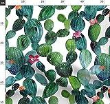 Grün, Wasserfarben, Pflanze, Kaktus Stoffe - Individuell