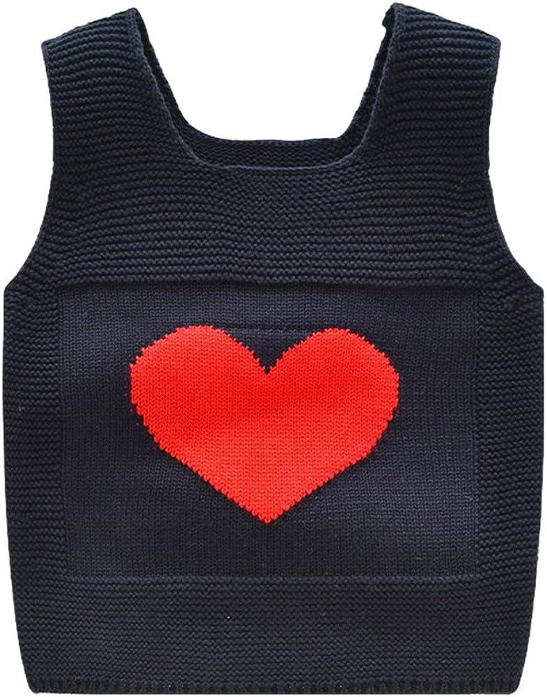 Tortor 1Bacha Little Girl Boy Heart Knit Scoop Neck Sweater Vest