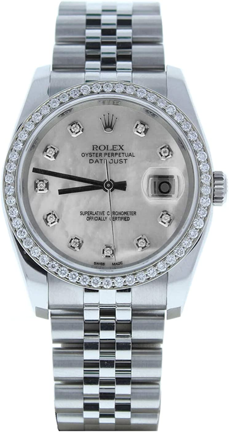 Rolex 36mm Datejust 116200 Super beauty product restock quality top! Jubilee Band Mother D Pearl of Custom Max 67% OFF