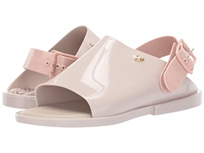 + Melissa Luxury Shoes x Vivienne Westwood Anglomania Twist Slide Sandal (Beige/Pink) Women