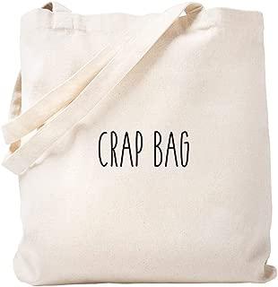 CafePress Friends Crap Bag Natural Canvas Tote Bag, Reusable Shopping Bag