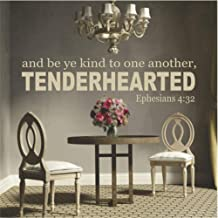 Weslu Vinyl Wall Sticker Mural Bible Letter Quotes and Be Ye Kind to One Another, Tenderhearted Ephesians 4:32 for Living Room Bedroom
